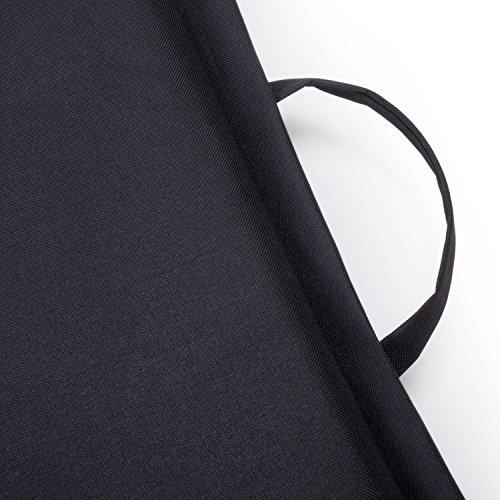 Ampel 24 Siège de sol FESTIVAL, chaise de méditation avec dossier réglable | Siège pliable parfait pour l'extèrieur | imperméable | noir 11