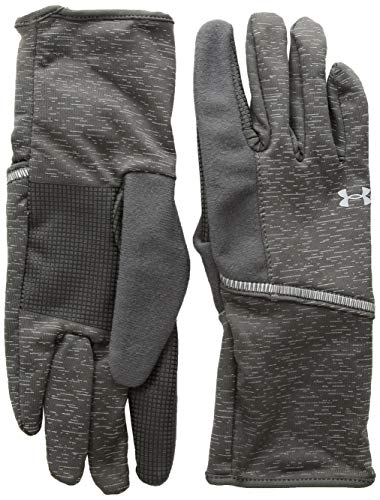 Under Armour, Storm Run Liner, Guanti, Donna, Grigio (Charcoal/Silver), M