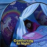 Tiendas de ensueño, Dream Tents, fantasía interior de la cama redes de regalo, Children Play Cama Tienda de Campaña(Unicornio)