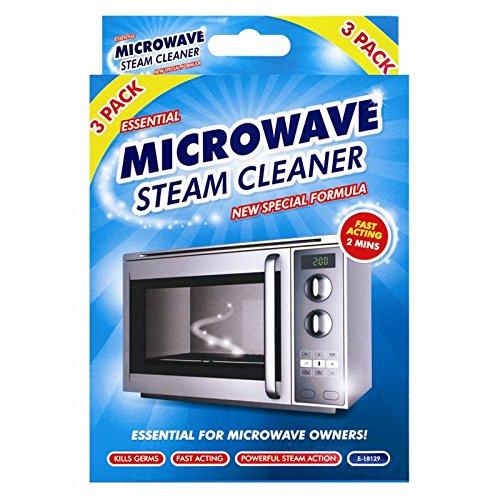Limpiador de vapor de microondas , 3 unidades – trabaja en 2 minutos
