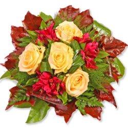 """floristikvergleich.de Blumenstrauß Blumenversand """"Cappuccino"""" +Gratis Grußkarte+Wunschtermin+Frischhaltemittel+Geschenkverpackung"""