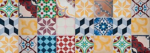 Viniliko Vintage Tiles Tappeto in Vinile, Multicolore, 50 x 140 cm