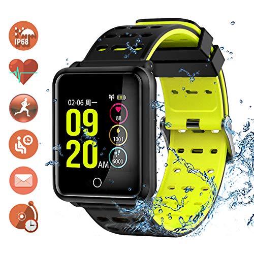 TagoBee TB06 IP68 impermeabile intelligente orologio fitness monitor pressione sanguigna frequenza cardiaca degli compatibili android e iPhone nero
