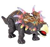 ThinkGizmos Dinosaurio Que Camina de Juguete TG636 – Triceratops con Sonidos, Luces y Movimientos realistas asombrosos (Marca Protegida)