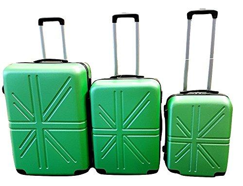 Dublin set da 3 pezzi valige trolly in ABS e policarbonato con 4 ruote girevoli 360° gradi colori...