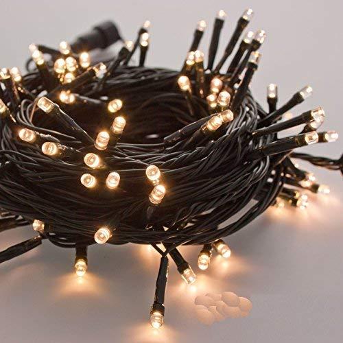 takestop 300 LED LUCI Bianco Caldo Filo Verde Albero di Natale Catena Luminosa Controller 8 FUNZIONI...