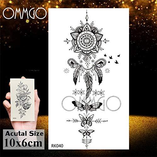 tzxdbh Dream Catcher Tatuaggi ad Acquerello Adesivi Piuma Tribale Tatuaggio Personalizzato Body Art Braccio Tatuaggi Galaxy Tatuaggi Fai-da-Te da Gro ORK040