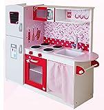 Leomark Cocina grande y brillante de lujo- Royal Cocina de juguete con accesorios, Juguete para Niñas, color rosado, Juego de Imitación, cocina madera infantil, cocina niños