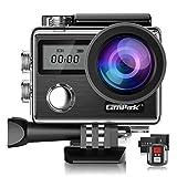 Campark X20 Caméra Sport 4K 20MP WiFi Caméra d'action Étanche 30M Écran tactil Anti-Shake,2.4G Télécommande Caméscope avec 2 Batteries et Kits d'Accessoires