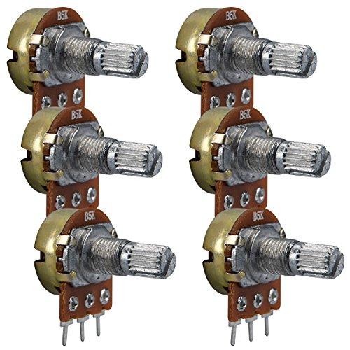 kwmobile - For smart electronicsPotenziometro kwmobile per regolare la resistenzaRESISTENZAIl potenziometro kwmobile consente di misurare la resistenza in continuo.ESEMPI DI APPLICAZIONE Con il potenziometro kwmobile è possibile regolare l'in...