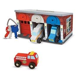 Melissa & Doug- Garage con Veicoli in Legno, Multicolore, 4607