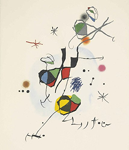 Berkin Arts Joan Miro Giclée Tela Stampa La Pittura Poster Riproduzione (ELS Castellers)