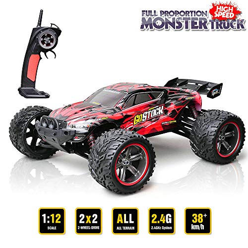 GoStock Ferngesteuertes Auto RC Buggy im Maßstab 1:12 38 km/h RC Off Road Monster Truck Off-Road 2.4Ghz RC Car Ferngesteuert Fahrzeug
