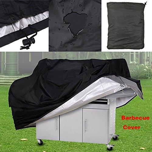 EBILUN esterno nero in poliestere impermeabile portatile antipolvere anti-UV Garden barbecue a gas...