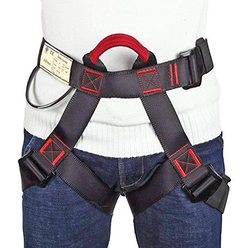 Arnés de Escalada Proteger Pierna Cintura Más Seguro,Arneses de Escalada Cinturones de Seguridad para Mujer y Hombre para Montañismo Alpinismo Expedición Escalada en Roca