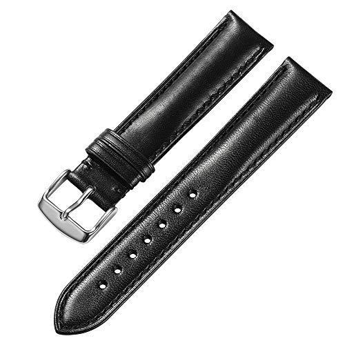 iStrap 18 mm 19mm 20 mm 21mm 22 mm 20mm Cinturino Per Orologio Da Polso Uomo Donna Di Pelle Cachi Cinturini Da Ricambio Nero