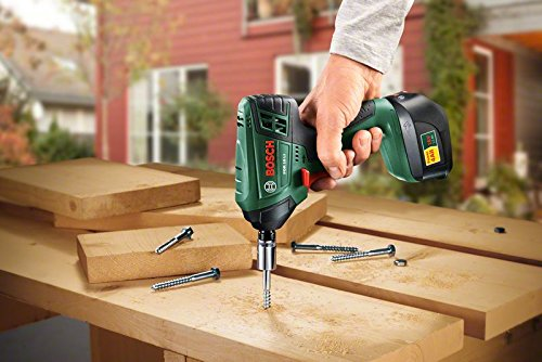 The Bosch PDR 18 LI Cordless Impact Wrench is ideal for driving screws in softer materials. We don't think the 130Nm is powerful enough for harder surfaces so if you dealing with hard woods for example, then we recommend you opt for a higher torque driver such as the DeWalt or Ryobi model.
