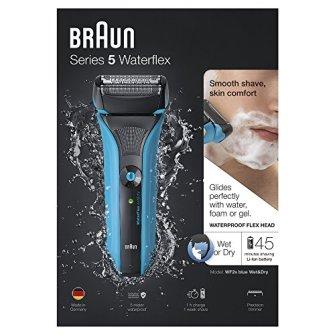 Braun-Series-5-WaterFlex-WF2s-Afeitadora-elctrica-para-hombre-de-lamina-en-seco-y-mojado-mquina-de-afeitar-barba-inalmbrica-y-capuchn-protector-color-azul