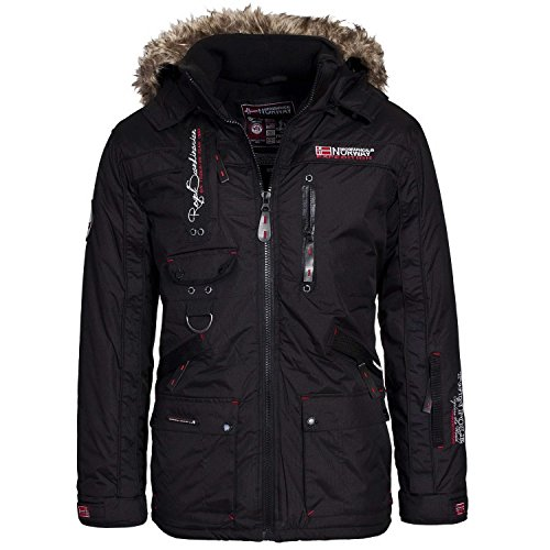 Geographical Norway Giacca Invernale da Uomo Outdoor Nera, Dimensione:XXL