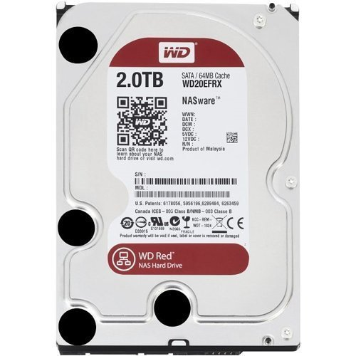 WD Red 2TB NAS Hard Disk Drive - 5400 RPM Class SATA 6 Gb/s 64MB Cache 3.5 Inch - WD20EFRX...