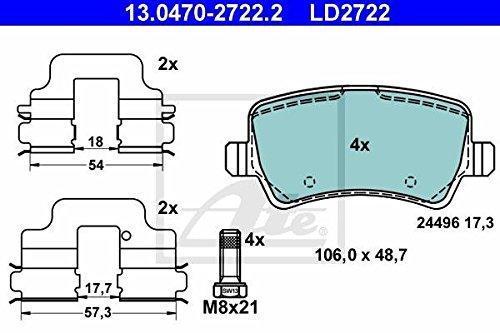 ATE 13047027222 Set pastiglie freno a disco ATE Ceramic