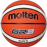 Molten BGR3-OI - Pallone da basket, colore arancione (orange/ivory), dimensione 3