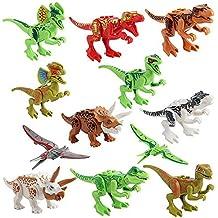 Womdee 12 Figuras de Dinosaurio Realista educativa con mandíbulas móviles, Incluyendo T-Rex, Triceratops, Velociraptor, etc.