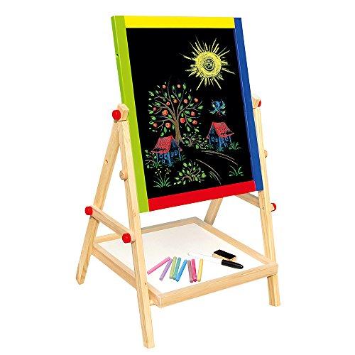 Bino 83653 - Lavagna magnetica 2 in 1 per bambini in legno