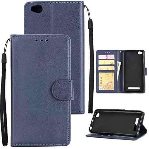 xiaomi red mi 5A Hülle, xiaomi red mi 5A Schutzhülle, xiaomi red mi 5A cover,Alfort Lederhülle Flip Hülle Cover Wallet Case für xiaomi red mi 5A Smartphone Taschen Handytasche(Blau)