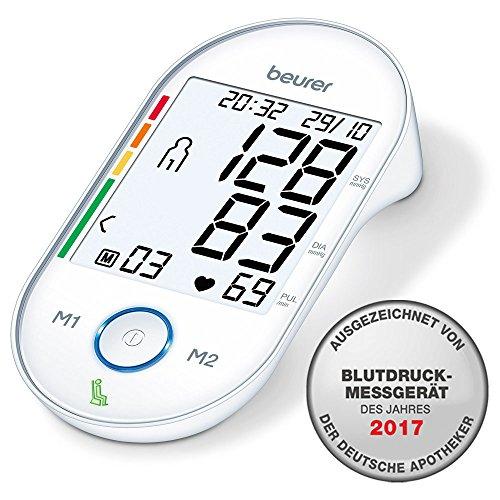 Beurer BM 55 Misuratore di Pressione da Braccio con Display XL Retroilluminato e Indicatore del...