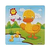 Koly Niños de Madera 9 Piece Jigsaw Juguetes para la Educación Infantil y Aprendizaje Puzzles Juguetes (C)