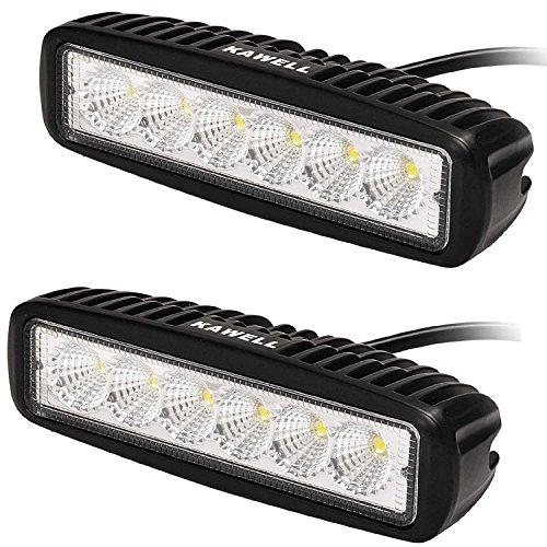 KAWELL 2x18W Barra Fuoristrada Fari Luce Fendinebbia Faro LED da Lavoro Impermiable Luci diurne per...