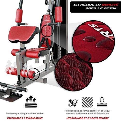 Sportstech VAINQUEUR du Test* La Station de Musculation Premium 30en1 HGX100 de pour des Variantes d'entraînement innombrables. Home-Gym Mul... 24
