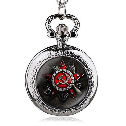 HWCOO Orologio Da Tasca Orologio da taschino con quarzo simbolo della bandiera russa (Color : 2)