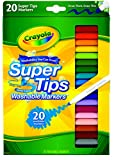 Crayola Washable Super Tips (5 Fun-Scented Markers Included), 20 Count
