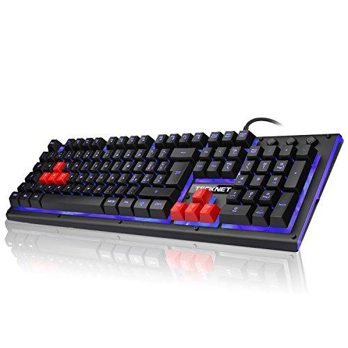 TeckNet Tastiera da Gaming, Tastiera da Gioco Similmeccanica con Retroilluminazione a LED per PS4,...