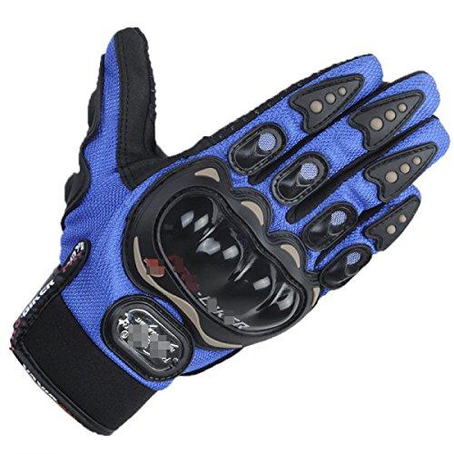 DFIHCD Sport Handschuhe Herren Unisex Radfahren Handschuhe Herbst/Herbst Frühling Sommer Fahrrad Handschuhe Warm Halten Schnell Trocken Tragbar Atmungsaktiv,Blue-L