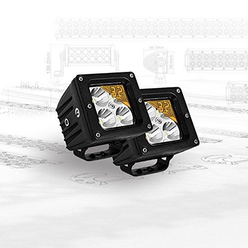 Eyourlife 3,2' 20W 2 Pezzi Spot Faro da Lavoro Luce di Profondità Faro Impermeabile LED 12V 4 LEDS...