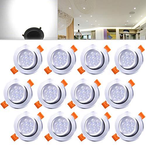 Hengda 12er Posto 7W LED da incasso a luce fredda della lampada bianca da incasso a luce set...