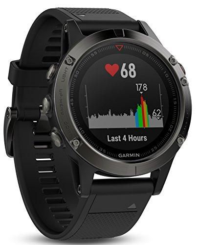 Garmin Fēnix 5 Gray - Montre GPS Multisports Outdoor - Bracelet Noir