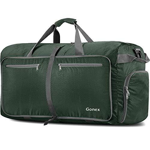 Gonex Leichter Faltbare Reise-Gepäck 150L, Farbe: Armee-Grün, Duffel Taschen Uebernachtung Taschen/Sporttasche für Reisen Sport Gym Urlaub