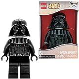 LEGO Star Wars 9002113 Sveglia retroilluminata per bambini minifigure Darth Vader   plastica   24 cm di altezza   Schermo LCD   rosso/nero   per i bambini   ragazza/ragazzo