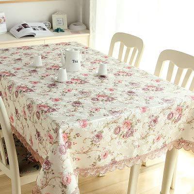 JIAOJJIAN Tessuto Stile Europeo Tovaglia Rettangolare Soggiorno Tavolino da caffè TV Mobile Panno...