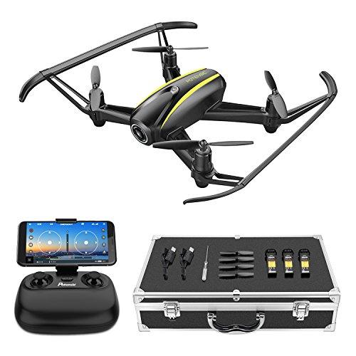 Potensic Drone U36W HD con Valigia con Telecamera WiFi FPV 2.4Ghz , Drone Telecomandato Funzione di Sospensione Altitudine, Allarme di Fuori la Gamma di Volo