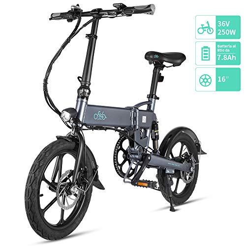 Fiido D2 Ebike, Bicicletta elettrica Pieghevole con Luce Anteriore a LED per Adulti, Bicicletta...