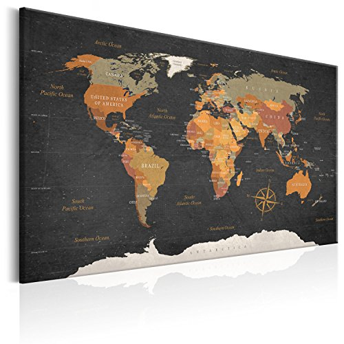 BD XXL murando - Lavagna di Sughero 120x80 cm -1 Parte - Quadro su Tela fliselina - Poster Mappa del...