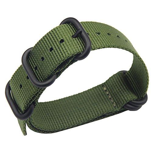 18 millimetri esercito di fascia alta stile verde superiore NATO nylon balistico sostituzione cinturino cinturino intrecciato per gli uomini