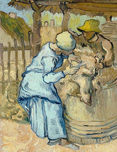 The Sheep-Shearer (After Millet), Vincent Van Gogh. Blank Journal: 150 Blank Pages, 8,5x11 Inch (21.59 X 27.94 CM) Soft Cover