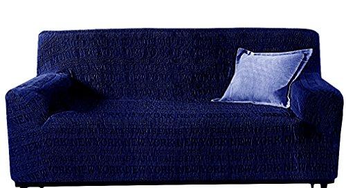 RivieraHomeCollection COPRIDIVANO 3 posti per Divano Strech Urban Elasticizzato Blu