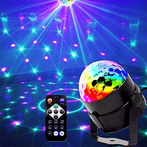 Mini luci da palco, EJBOTH Mini lampada effetto disco palla magica RGB LED fase cristallo faro...